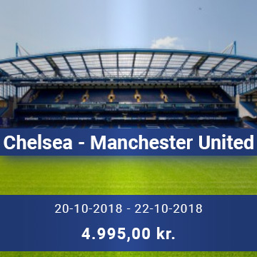 Travel Sense A/S - Chelsea - Manchester United