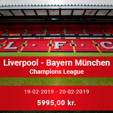 Travel Sense A/S - Liverpool FC - Bayern München