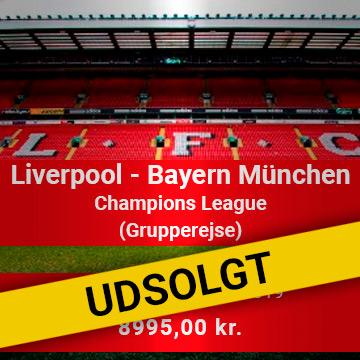 Travel Sense A/S - Liverpool FC - Bayern München Grupperejse